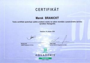 Certifikát Hansgrohe