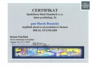 Certifikát Idealstandard