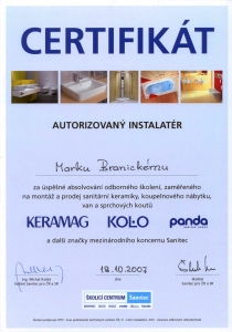 Certifikát Keramag